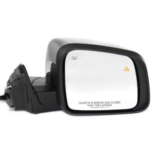 MAPM Premium Quality GRAND CHEROKEE 11-16 MIRROR RH, Pwr, Htd, Man Fldg, Chrm, w/Mem, Sgnl Lamp and BSD, Ex. SRT-8 Model FOR 2011-2015 Jeep Grand Cherokee