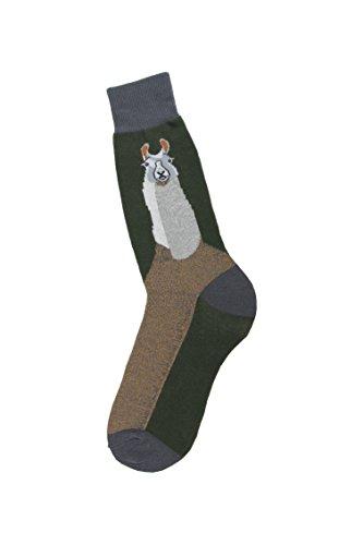 Foot Traffic Men's Novelty Socks, Funny Animal-Themed Dress Socks, Sizes 7–12