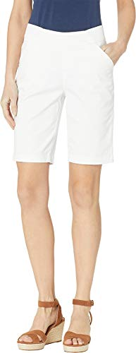 (Jag Jeans Women's Gracie Pull-On Bermuda Shorts Twill White 10 (30
