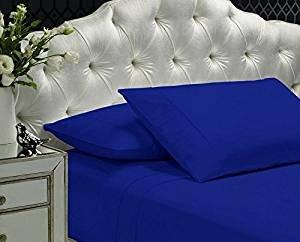 - Z HEM 400 TC Ultra Soft Solid Sheet Set,Queen - NAVY BLUE