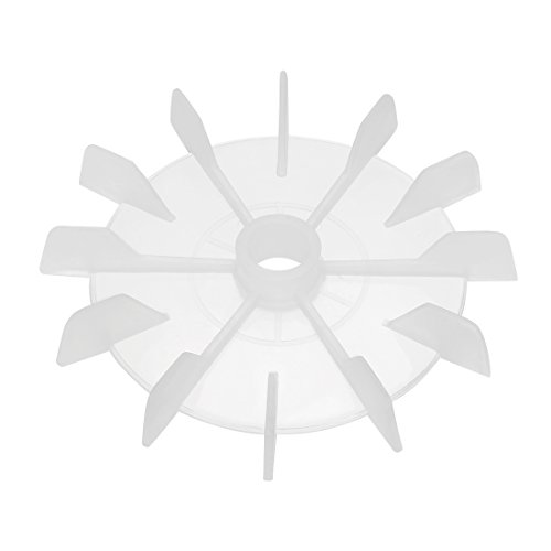 uxcell Motor Fan Blade 120mmx15mm Round Shape Bore White Engineering Plastic with 12 Vanes