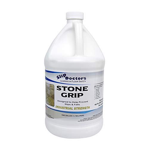 Stone Grip Industrial Non-Slip Floor Treatment for Tile and Stone to Prevent Slippery Floors. Indoor/Outdoor, Residential/Commercial, Works in Minutes for Increased Traction (Gallon) ()