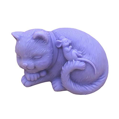 Amazon.com: GRAINRAIN Silicone Soaps Mold Cats and Mouse Soap Making Mould Resin Molds Handmade Soap Molds DIY Craft Art Molds 1 pc