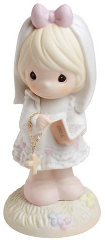 Precious Moments,  This Day Has Been Made In Heaven, Bisque Porcelain Figurine, (Holy Communion Dresses Shops)