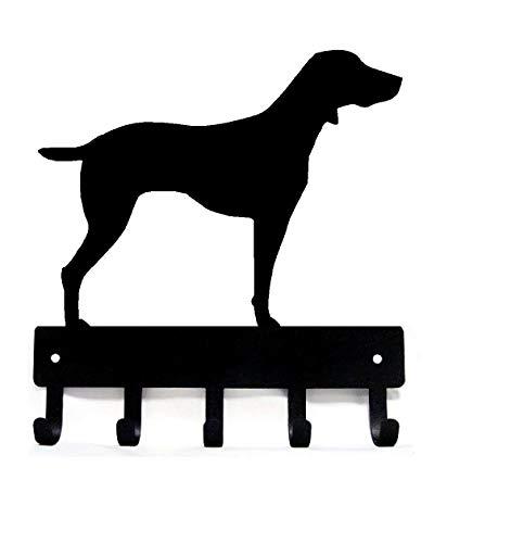 (The Metal Peddler Weimaraner Dog - Key Hooks & Holder - Small 6 inch Wide)