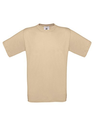 T-Shirt Exact 190 Basics Rundhals Shirt viele Farben B&C S-XXL XXL,Sand