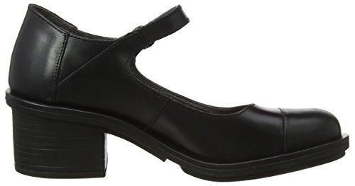 para Negro London Fly Cerrada Mujer Black con Tacón de Punta 005 Zapatos Cody877fly Fvqnv8dUA