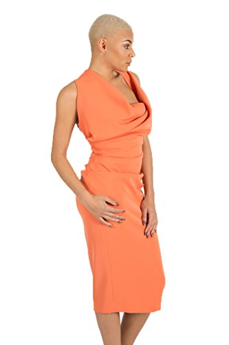 Damen Cosmo Kleid orange Neopren Jon Kevan gxqAFq