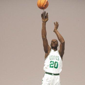 e33ae960e0ad Amazon.com  RAY ALLEN   BOSTON CELTICS   WHITE JERSEY   McFarlane 6 Inch  NBA SERIES 16 Sports Picks Action Figure  Toys   Games