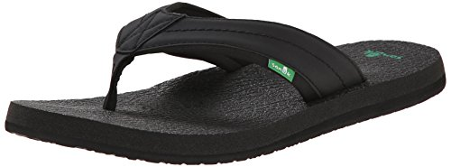 Sanuk Men's Beer Cozy 2 Flip-Flop, Black, 11 M US