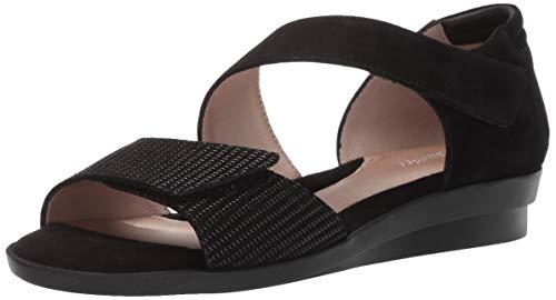 BeautiFeel Women's DITA Sandal Black Linear Print Suede 430 Medium EU (12 US)