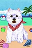 "Cheap West Highland White Terrier by Tomoyo Pitcher, Summer Themed Dog Breed Flags 28"" x 40"""