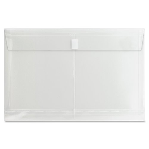 S.P. Richards Company String A Long Poly Hide Envelope, Side Open, Legal, Clear (SPR02019) - Button Poly Hide Envelope