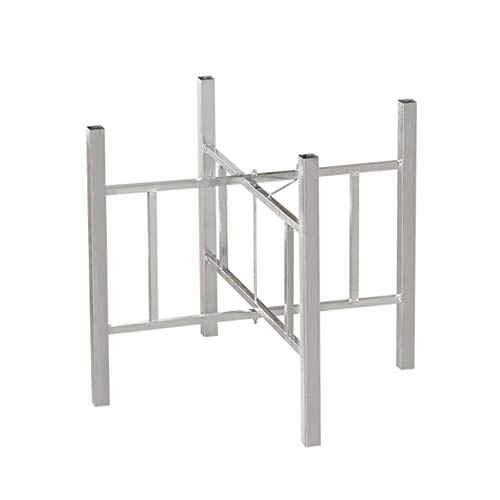 Patas de mesa plegables, marcos de patas de mesa, patas de muebles, con almohadillas de goma, adecuadas para mesas, estables sin sacudidas/Plata / 75cm