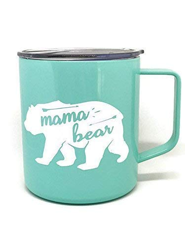 - Mama Bear Mint Green Coffee Mug Perfect Addition for any Mom at Home in the Trailer or On The Go
