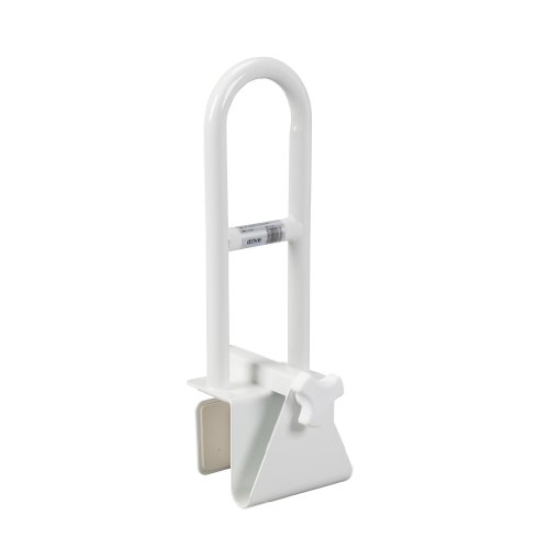 Drive Medical Steel Clamp on Tub Rail, White