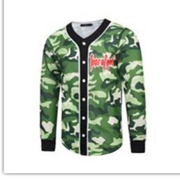 MAYUAN520 Chemises Camouflage de Mode 3D T Shirt Manche Longue Surtout Jersey Baseball T-Shirts Décontracté Slim Fit Tee Shirt T-Shirt Medusa,Vert,XXXL