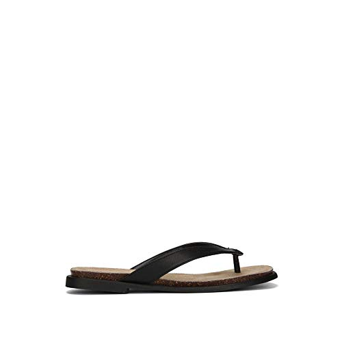 Kenneth Cole REACTION Women's Jel ing Flat Thong Sandal with Comfort Footbed Flip-Flop, Black, 9.5 M US ()