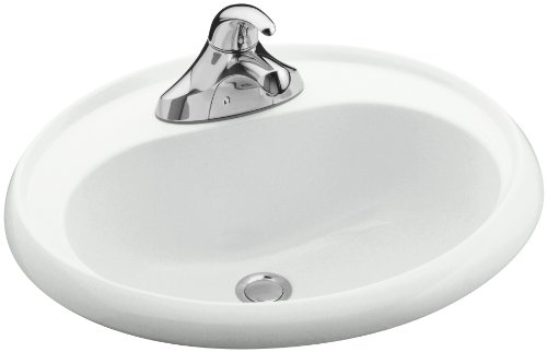 (STERLING 75010140-0 20-Inch by 17-Inch Oval Lavatory, White)