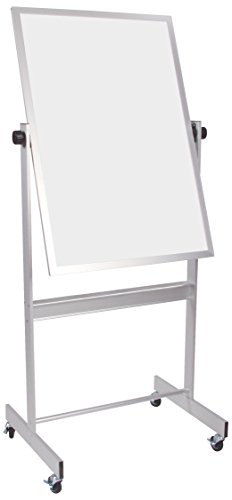 Best-Rite Deluxe Reversible Mobile Whiteboard, Combo Porcelain Markerboard/Natural Cork Bulletin, Aluminum Trim, Panel Size 30 x 40 Inches (668AC-DC) by Best-Rite