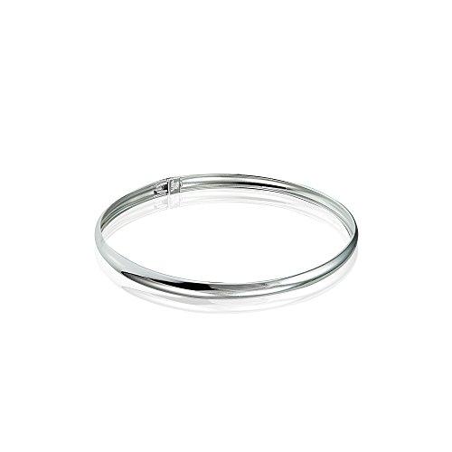 Sterling Silver Polished Childrens Bangle Bracelet
