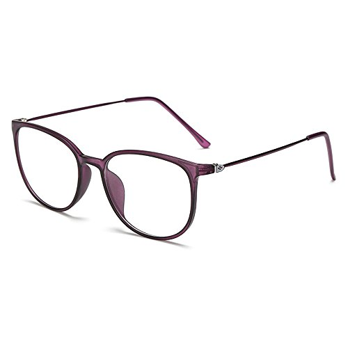 Terminalhonor Fashion Design Full Rims Nearsighted Myopia Everyone Use Fashion Distance Glasses -0.75 Lenses Purple Frame - Vuitton Glasses Frames Men Louis