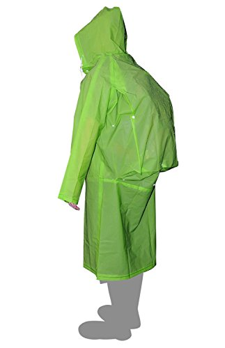 AIRCEE Lightweight Raincoat Rain Cape Poncho /w Backpack Position (Green) (Long Raincoats For Men With Hood compare prices)