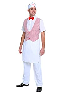 Retro Clothing for Men | Vintage Men's Fashion Mens 50s Car Hop Costume Large $34.99 AT vintagedancer.com