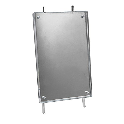 Isaac Jacobs 5x7 Silver Magnetic Acrylic Metal Easel Frame (5x7 Vertical) (Silver)