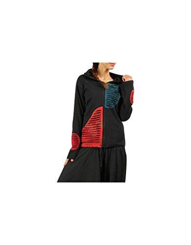 Aler Simplement - Manga larga con capucha de algodón de la mujer sólo tienes que ir SW520 Multicolor