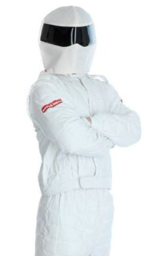 Stig Fancy Dress - The Stig Race Suit Fancy Dress Outfit, Helmet & Gloves - MEDIUM
