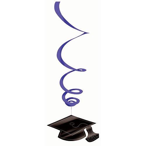 Amscan 679491.106 Hanging Foil Swirl Mega Value Pack Decoration, 7