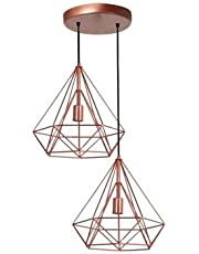 Pendentes Duplo Aramado Diamante Pirâmide Várias Cores