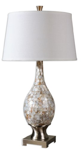 - Mother Of Pearl Madre 1 Light Table Lamp Model-26491