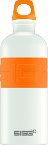 (Sigg CYD Pure Touch Water Bottle, White/Orange, 0.6 L )