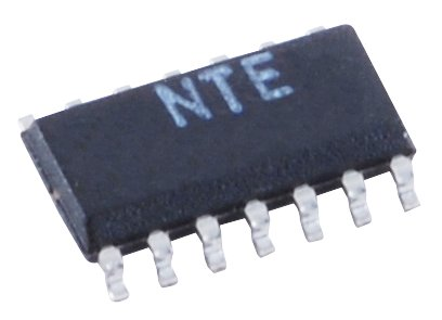 NTE Electronics NTE987SM Integrated Circuit Quad Low Power Operational Amplifiers, SOIC-14 Surface Mount Package, 32V Single Supply Voltage (Quad Operational Amplifier)