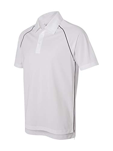 Adidas Climalite Polo Pique - Adidas ClimaLite Piped Pique Colorblock Polo - White/Black A82 X-Large