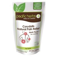 Pacific Herbs Corydalis (Yan Hu SUO)- 100,000 Mg Natural Pain Relief - 10:1 Granule Extract, Stronger Than Pills or Capsules, Contains Tumeric and Other Anti-inflammatory Herbs, 30 Day Supply (Best Herbs For Pain Relief)