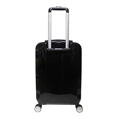 "Exzact Cabin luggage/Carry-on Bag 20"" / hard shell/Front Pocket / 4 wheels 360° (Black, 20"")"