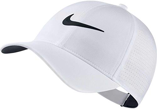 (NIKE Women's AeroBill Legacy 91 Perforated Cap, White/Anthracite/Black, One Size)