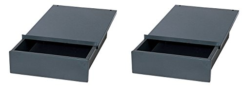 Edsal WD1218 Industrial Gray Steel Bench Drawer, 4'' Height x 12'' Width x 18'' Depth (Pack of 2) by  (Image #2)