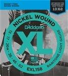 3 Sets of D\'Addario EXL158 Baritone Electric Guitar Strings Extra Light