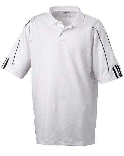 adidas Golf Mens Climalite 3-Stripes Cuff Polo