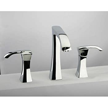 La toscana 89pw214 lady 8 inch widespread lavatory faucet - 8 inch brushed nickel bathroom faucet ...