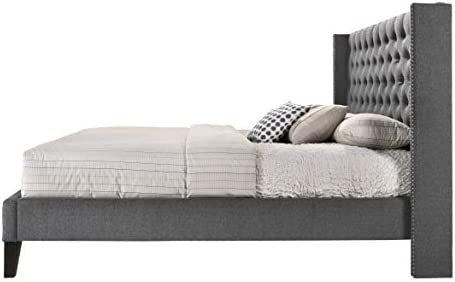 home, kitchen, furniture, bedroom furniture, beds, frames, bases,  beds 9 picture ALTOZZO Pacifica Contemporary Bed, King, Gray deals