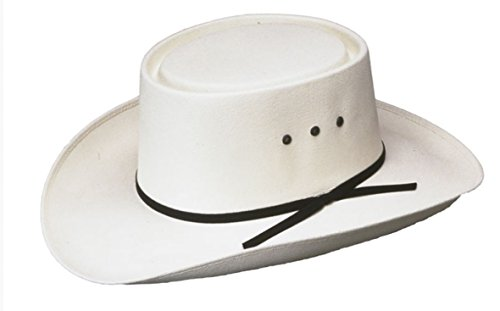 Western Paso Fino San Jose Gambler Hat, Straw White 7 1/4 (58)
