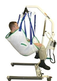 Alimed Single Patient Sling With Head Support, Medium by Alimed