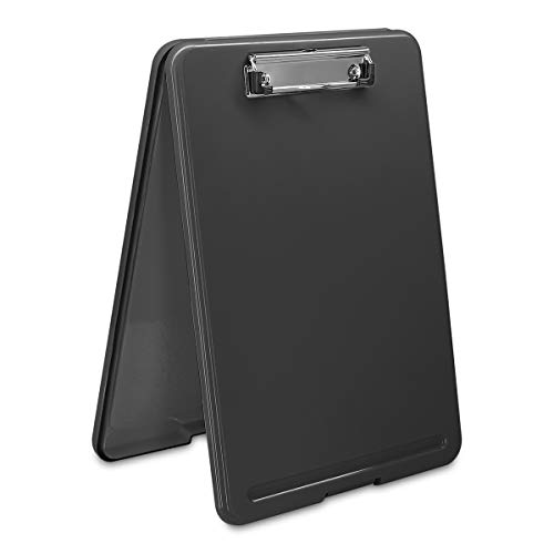 Clipboard with Storage Black Plastic Storage Clipboard Form Holder Binder with High Capacity Clip Posse Box-13x9x1 inches Plastic Clipboard for Office Business Professionals Stationer ()