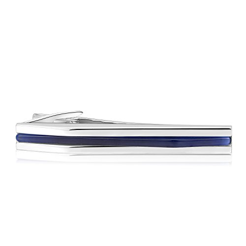 Anfly Mens Sapphire Tie Clips Luxury Blue Tie Bar Pin with High end package by Anfly (Image #1)