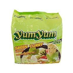 トムヤムインスタントラーメン グリーンカレー味 5個入り